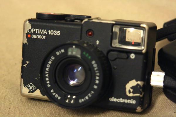 經典相機系列 AGFA Optima Sensor 大紅鈕幫