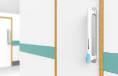 內建洗手劑的概念門把 PullClean,為醫療人員、病患之健康衛生把關