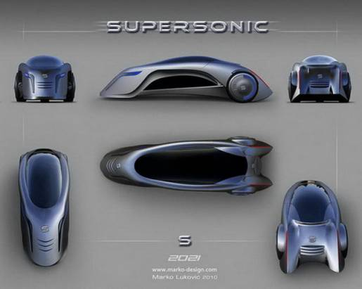 極科幻的未來概念車 Supersonic Car