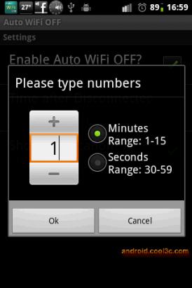 Auto WiFi OFF - 關閉無線網路好省電
