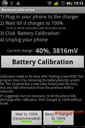 Battery Calibration - 校正電量資訊(需要root權限)
