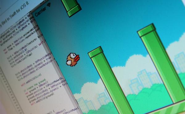 Apple 自創 Swift 程式碼的厲害: 4 年研發的成果, 4 小時就能寫出 Flappy Bird