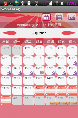 WomanLog日曆 - 妳的紅粉知己