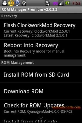 ROM Manager - 刷機高手必備(需要Root權限)