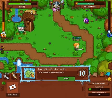 懷舊遊戲現身臉書 《Bush Whacker》復古冒險遊戲