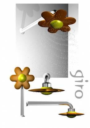 花朵造型蓮澎頭,連灑出來的水都有公主氣息!