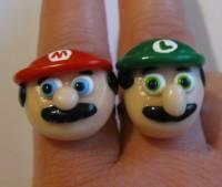 超可愛的瑪莉兄弟戒指