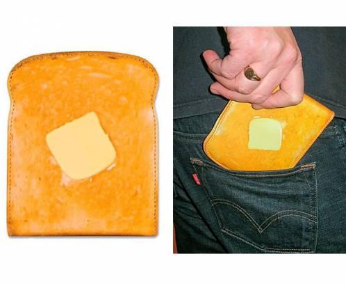 節食中慎入!奶油烤土司造型皮夾~