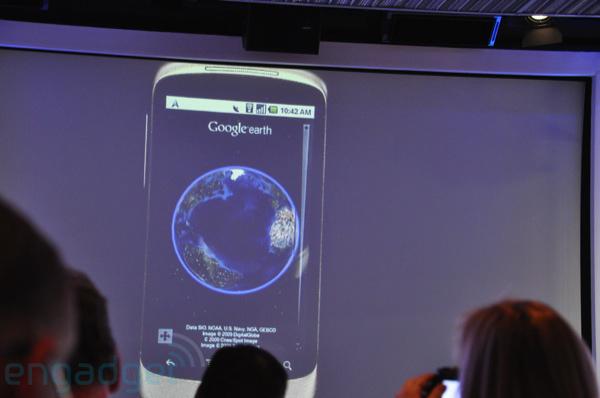 Google Earth現身Android Nexus One!