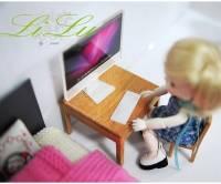 小布娃娃也愛吃蘋果 ~~ 超迷你尺寸 Apple 系列小模型