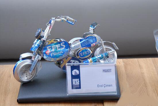 用啤酒罐做出來的模型