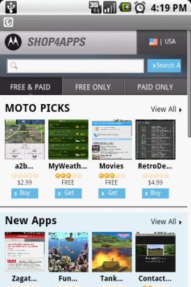 SHOP4APPS Moto牌Market