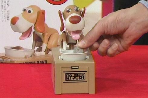 卯起來吃的傻勁,狗狗造型存錢箱