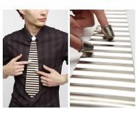 打擊樂團可以考慮加這一味,造型浪板領帶
