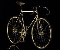世界上最貴的自行車 24K鍍金+鑲嵌600多顆 施華洛世奇 水晶裝飾要價80000歐元