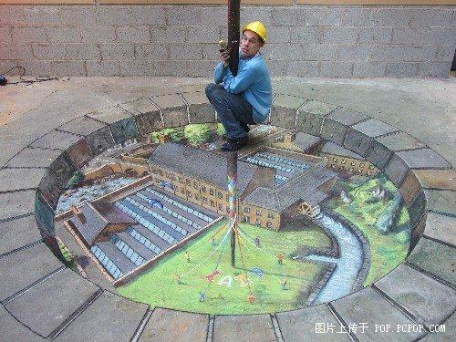 那個在地上作3D畫的人最新作品出爐了