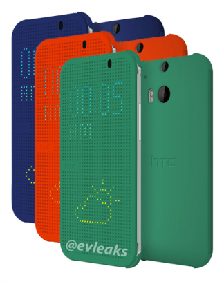 New HTC One 炫目保護套流出: 發光亮燈屏, 不用解鎖就能看