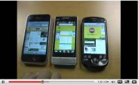 影片: Magic vs iPhone 3g vs HTC Touch Diamond2 3G 速度大車拼