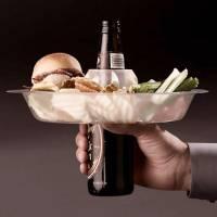 [好物] 吃的喝的一手抓~一個讓妳超有效率的盤子