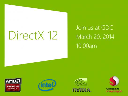 微軟將在 GDC 大會宣布 DirectX 12 ,高通亦在合作夥伴內