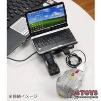 超炫的變形金鋼周邊,包括了筆電造型的USB hub 滑鼠以及隨身碟