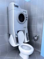 「灰水」沖馬桶的最省事方案:馬桶洗衣combo機
