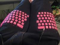 自製褲子上鍵盤