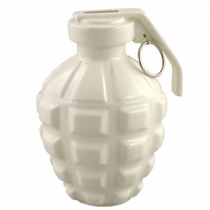很屌的手榴彈存錢筒以及無言的炸彈花瓶