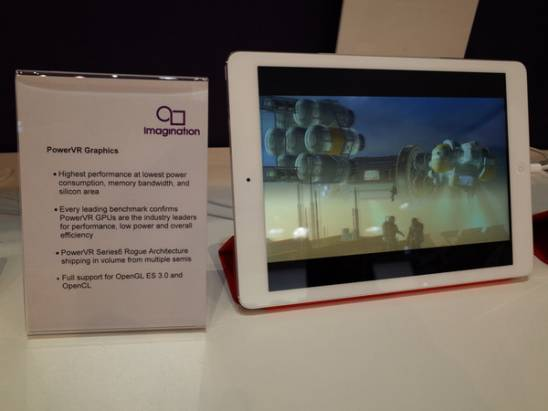 MWC 2014 : Imagination Technologies 不約而同使用光頭男性的展示新一代 PowerVR 支援 OpenGL ES 3.0 能力