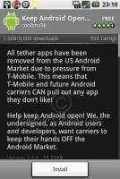 Keep Android Open Petition - 讓Android Market維持開放精神