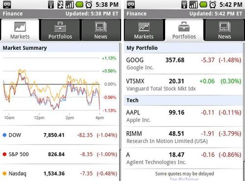 Google Finance 搬上Android,台灣咧?