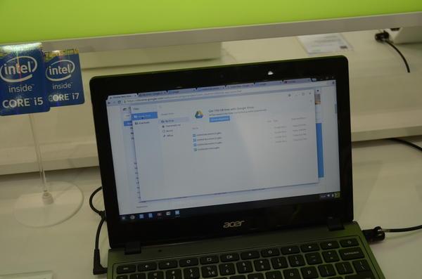 Computex 2014:不知會不會引進國內最超值的Chromebook,Acer在會場上展示C720P
