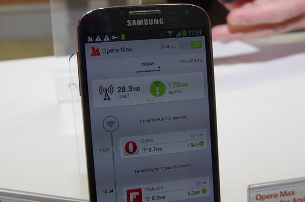 MWC 2014 : Opera 展示 Opera Max 壓縮技術,強調大幅縮減頻寬使用