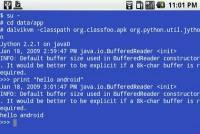 jython 可以在 Android 上跑了 jythonroid