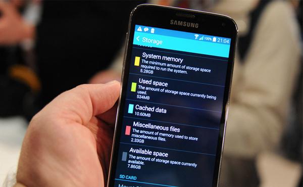 16GB 版本 Galaxy S5 實際可用空間竟比 GS4 更少