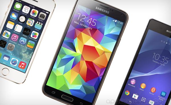 新一代旗艦電話比較: Galaxy S5, Xperia Z2, iPhone 5s, Note 3, GS4, HTC One [圖表]