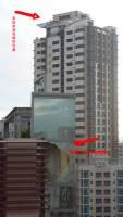 隔壁大樓被颱風吹壞