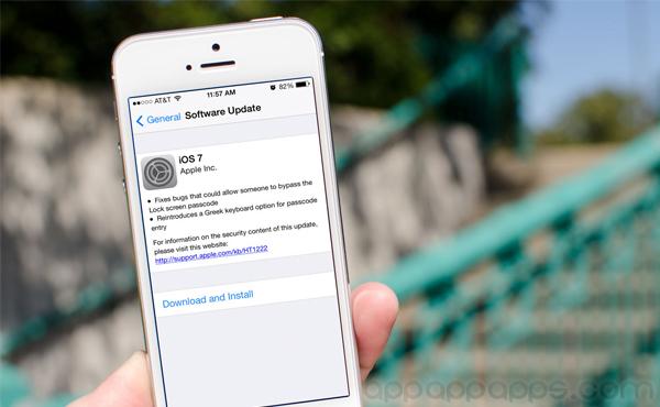 iOS 7 / iOS 6 突然更新, 修正重大問題
