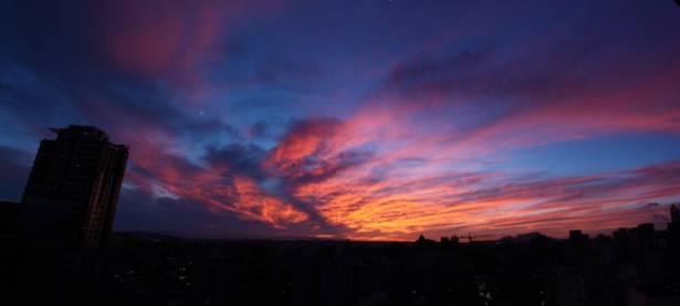 今天台北的夕陽很漂亮