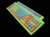 充滿童話氣息的七色彩虹鍵盤