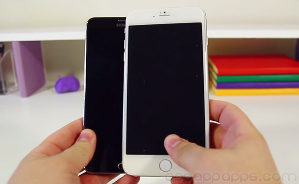 巨屏 iPhone 和 Note 3 並排比, 竟然大這麼多?! [影片]
