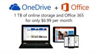 微軟放大絕,OneDrive 免費空間 15GB 起跳 Office 365 訂閱戶可享 1TB...