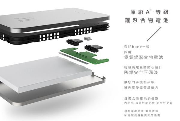 源自製造代工之王富士康 - 超漂亮超輕薄的高品質行動電源 Innowatt CPB502 5000mAh 上市囉!