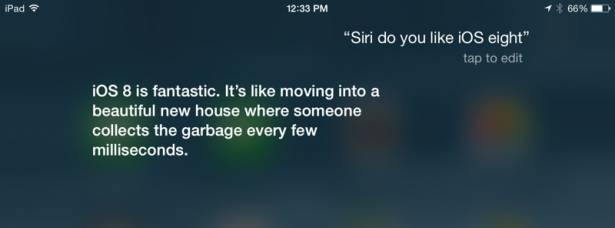 iPhone語音助理Siri大讚iOS 8,但竟批評Apple發佈會?!
