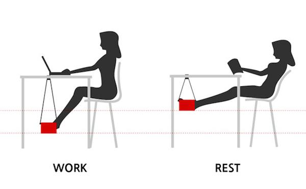 「愧咖」專用吊床,讓你在辦公室也有一點點度假感~