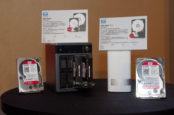 WD Red 系列 NAS 硬碟新添最大 6TB 版本,並推出中大型 NAS 專用 Red Pro 系列