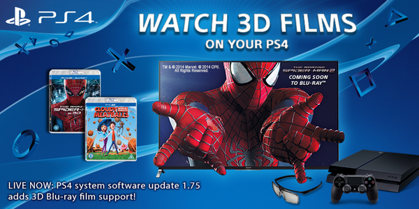 Sony PS4 終於支援 3D Blu-ray