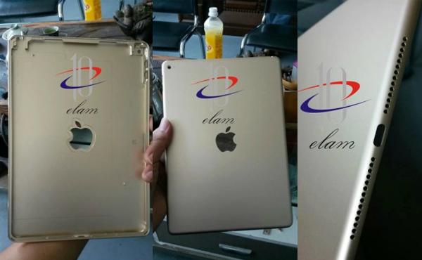 iPad Air 2 實機外殼流出: 終於有金色, 喇叭新設計