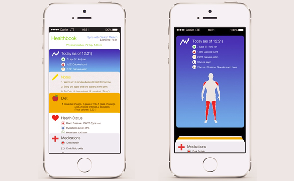 "iOS 8 全新Apple預設App: ""Healthbook""可能就是這個樣子"