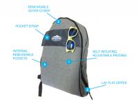 就是你了!Air Pakk!潮人必備流浪天涯多功能自動充氣背包 郵差包